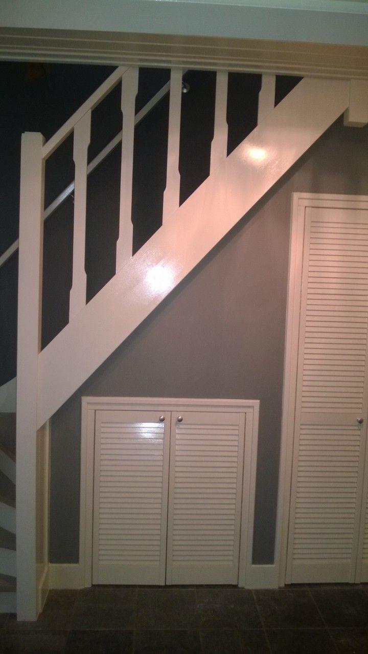 Genoeg Renoveren trap plus kast onder trap maken - Onderhouds- en #SA62